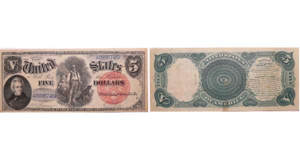 United States - 5 dollars série 1880