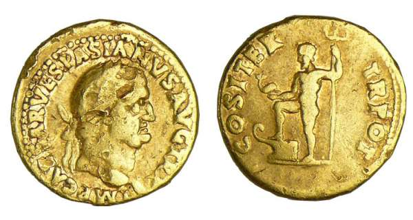 Vespasien - Aureus (69-71, Rome) - La Paix
